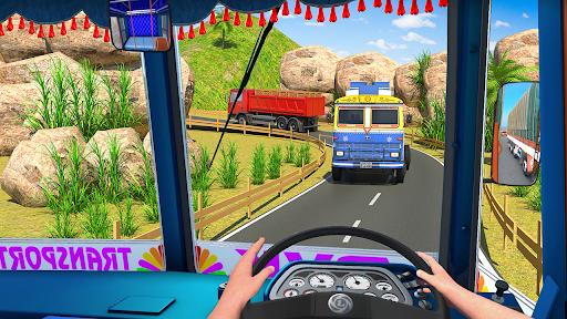 Indian Cargo Truck Transporter City Driver 3D Game  screenshots 8