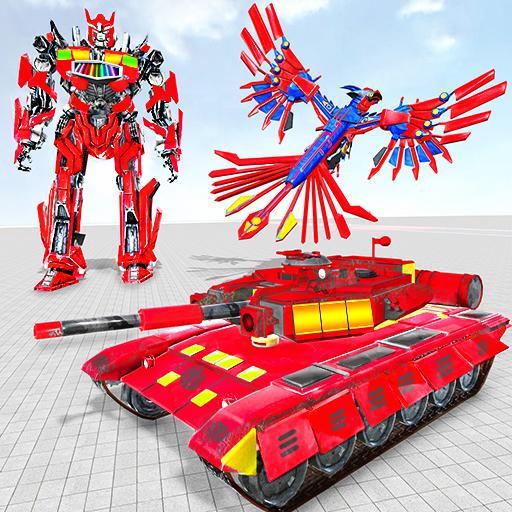 Tank Robot Game 2020 - Eagle Robot Car Games 3D