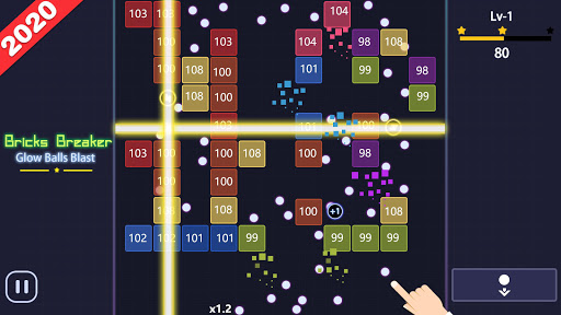 Bricks Breakeru00a0- Glow Ballsu00a0Blast 7.7 screenshots 8