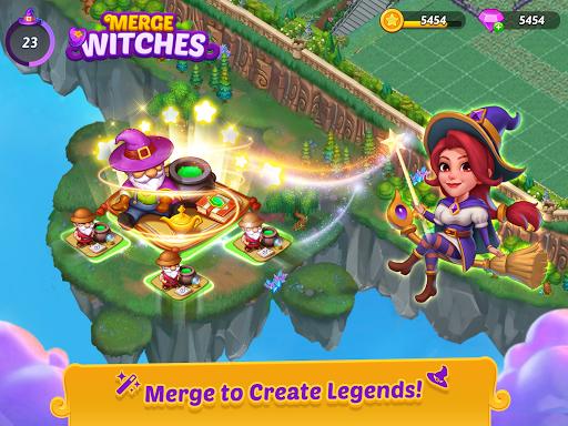 Merge Witches - merge&match to discover calm life Apkfinish screenshots 6