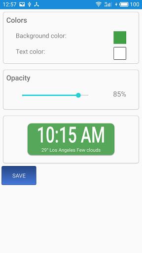 Weather forecast & transparent clock widget  Screenshots 8