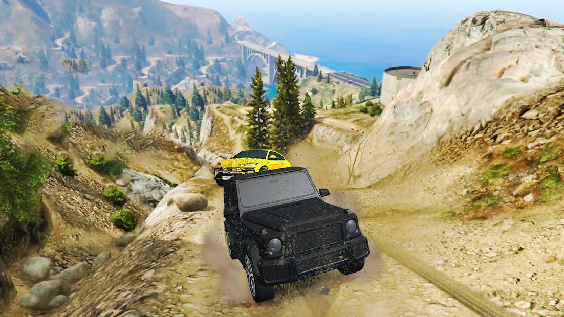 Offroad SUV Jeep Driving Racing Car Games 2021 screenshot 1