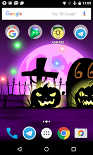 Halloween live wallpaper with countdown and sounds