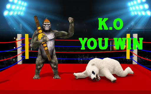 Wild Gorilla vs Wild Bear Ring Fighting: Wild Hunt apktram screenshots 2