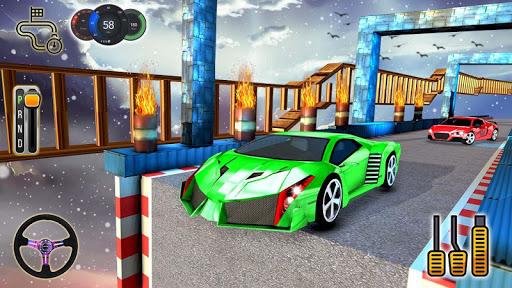 Impossible Stunt Space Car Racing 2019 apklade screenshots 2