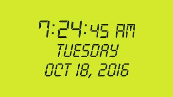Digital Clock : Bed/Desk Clock