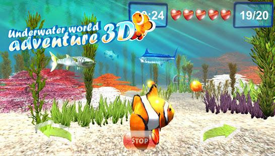 Underwater world. Adventure 3D 1.10 screenshots 1