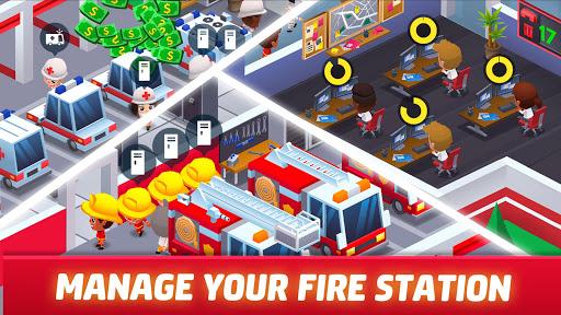 Idle Firefighter Tycoon - Fire Emergency Manager apktram screenshots 9