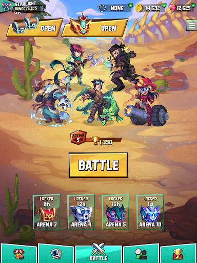 Puzzle Brawl - Match 3 RPG & PvP Battle Tactics apkpoly screenshots 16