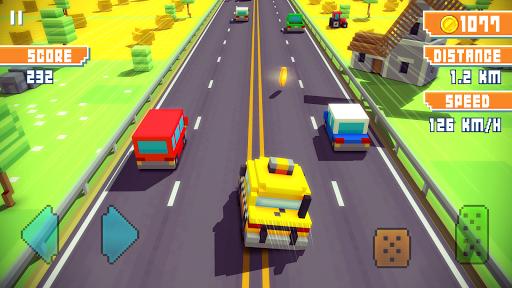 Blocky Highway: Traffic Racing  screenshots 5