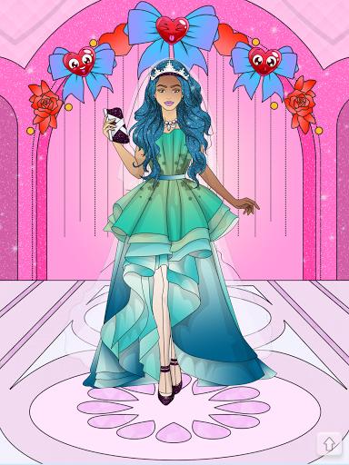Wedding Coloring Dress Up - Games for Girls  screenshots 16