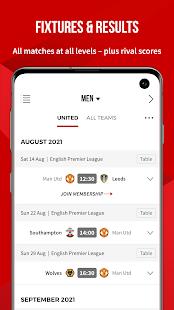 Application officielle de Manchester United