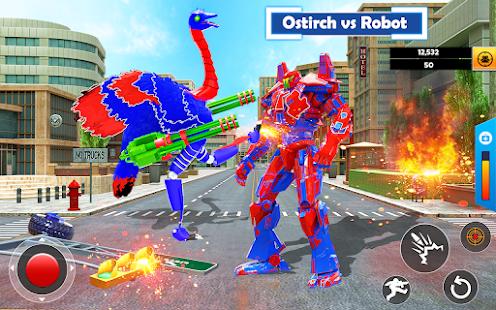 Flying Ostrich Air Jet Robot Car Game  Screenshots 12