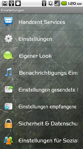 Handcent SMS Germany Language  screenshots 2