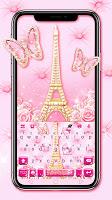 Romantic Paris Love Keyboard Theme