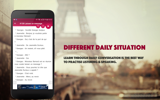 French Conversation: Learn to speak French android2mod screenshots 8