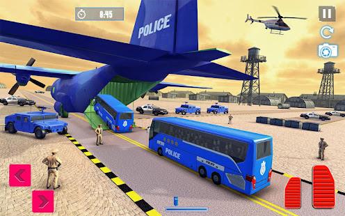 Police Plane Transport: Cruise Transport Games 1.12 Screenshots 2