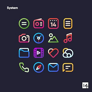 Aline Icon Pack Pro Apk- linear gradient icons (Patched) 5