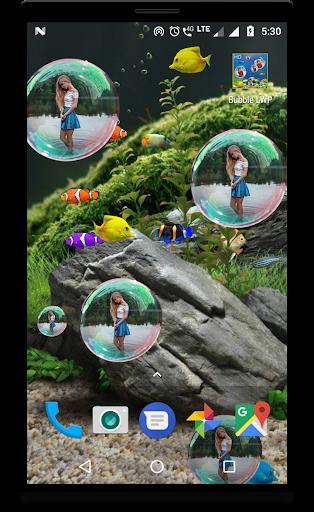 Bubble photo live wallpaper with aquarium 1.5 screenshots 4