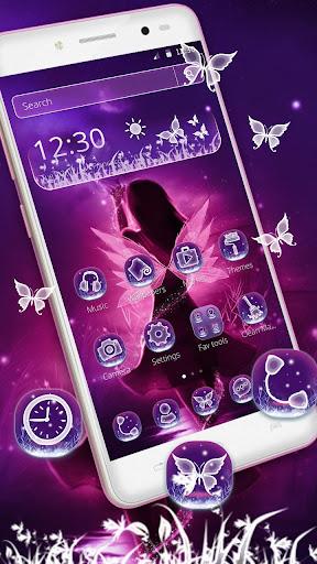 purple fairy tale princess theme screenshot 1