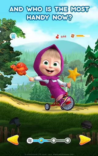 Masha and the Bear: Climb Racing and Car Games apkslow screenshots 19