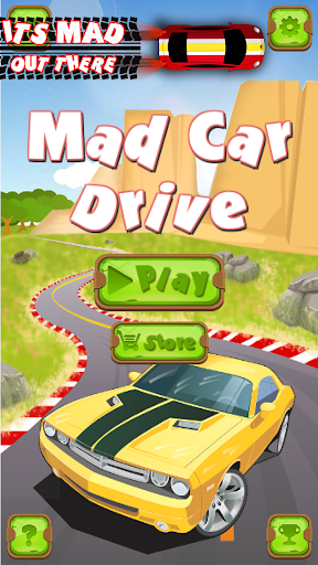 mad car drive 2d: crazy driver screenshot 1