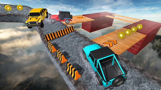 Offroad Jeep Driving Stunt 3D : Real Jeep Games apkpoly screenshots 2
