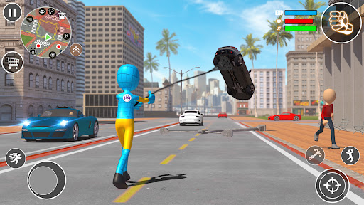 Flying Stickman Rope Hero  screenshots 11