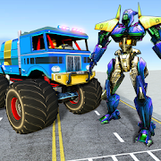 Grand Police Monster Truck Transforming Robot Game