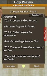 Holy Psalms - Advice from Faith (Sacred Bible)