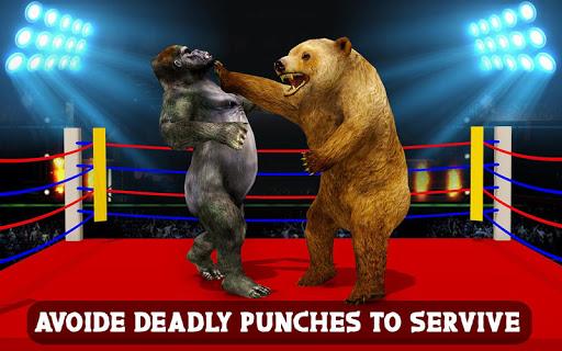 Wild Gorilla vs Wild Bear Ring Fighting: Wild Hunt apktram screenshots 8