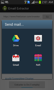 Extract Email Address Screenshot