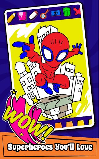 Superhero Coloring Book Game & Comics Drawing book  screenshots 4