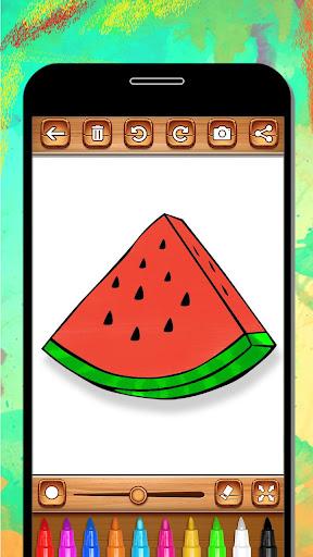 Fruits Coloring Book & Drawing Book android2mod screenshots 15