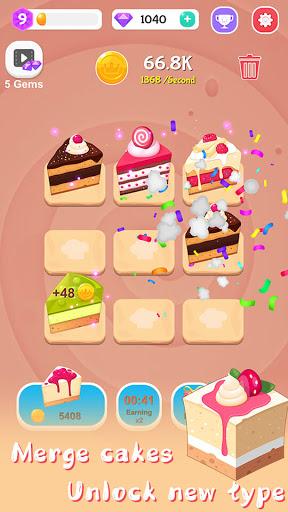 Merge Cake Mania - idle baking tycoon  screenshots 3