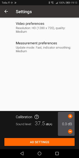 Decibel meter (SPL) with video recorder - SPL CAM 1.006 screenshots 5