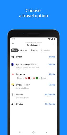 Yandex.Maps u2013 Transport, Navigation, City Guide android2mod screenshots 6