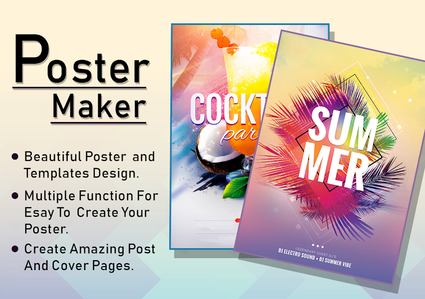 HD Poster Maker : Banner, Card & Ads Page Designer