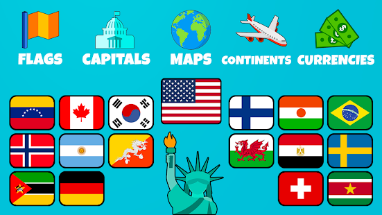 Flags of the World 2: Map - Geography Quiz 1.4.2 Screenshots 5