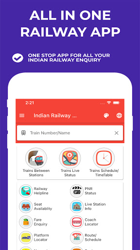Indian Railway Timetable - Live train location android2mod screenshots 1