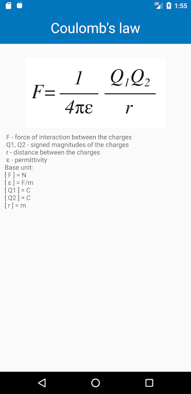 Physical constants and formulas  poster 3