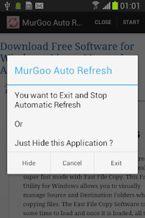 Auto Refresh Web Page Utility Screenshot