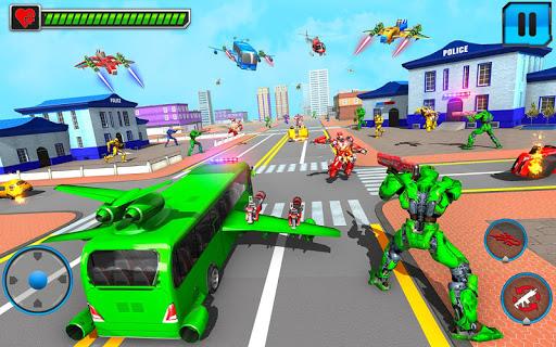 Flying Bus Robot Transform War- Police Robot Games 1.15 screenshots 11