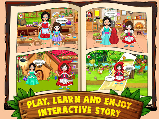 Mini Town: Red Riding Hood Fairy Tale Kids Games modavailable screenshots 13