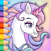 Sparkling Rainbow Unicorns Coloring Book For Kids