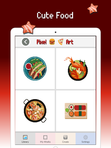 Food color by number : Pixel art coloring 1.5 screenshots 7