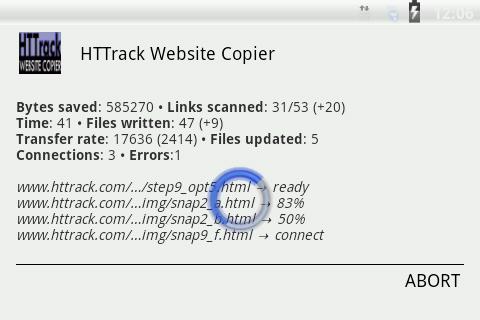 HTTrack Website Copier 3.49.02.63 Screenshots 6
