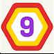 UP 9 - ヘキサパズル!数字を合わせて9にししょう