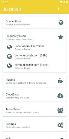 JuiceSSH - SSH Clientのおすすめ画像1