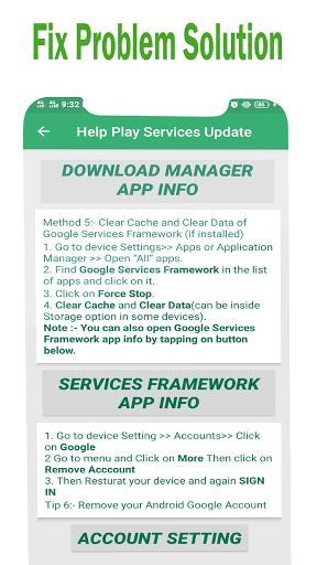 Play Services Errors Help 2021-Fix Play Store Info 1.0.2 screenshots 9